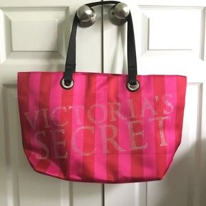 Victoria's Secret Oversize Sequins Tote Purse Bag